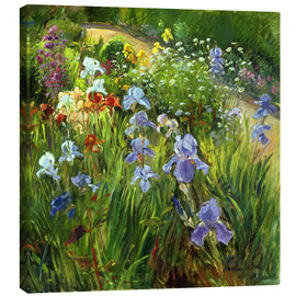 Canvas print  Flower bed - Timothy Easton