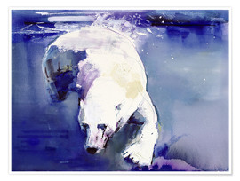 Premium poster  Polar bear underwater - Mark Adlington