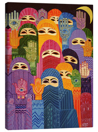 Canvas  The Hands of Fatima, 1989 - Laila Shawa