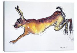 Canvas print  Jumping Hare - Lucy Willis