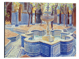 Aluminium print  The blue fountain - Lucy Willis