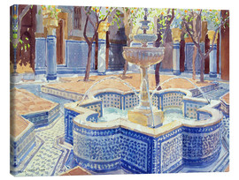 Canvas  The blue fountain - Lucy Willis