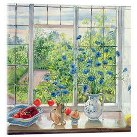 Acrylic glass  Cornflowers and Kitchen Garden - Timothy Easton