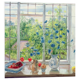 Foam board print  Cornflowers and Kitchen Garden - Timothy Easton