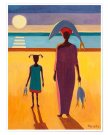 Premium poster  Woman with Fish - Tilly Willis
