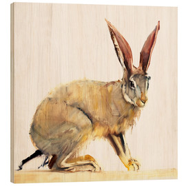 Wood print  Hare - Mark Adlington