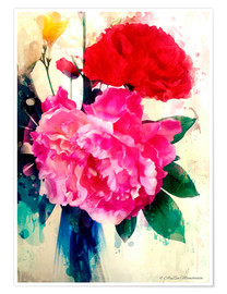 Poster  Peony and Poppy, 2014 - Alyzen Moonshadow