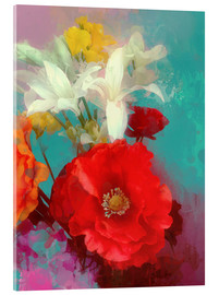 Acrylic print  Poppy and Friends - Alyzen Moonshadow