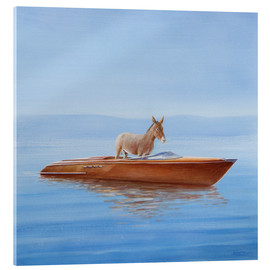Acrylic print  Donkey in a boat - Lincoln Seligman