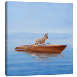 Canvas print  Donkey in a boat - Lincoln Seligman