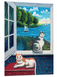 Foam board print  Cats and Sea - Jerzy Marek