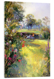Acrylic print  Reading in the Garden - Timothy Easton