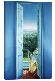 Canvas print  Breakfast on St. Maxime, 1984 - Lincoln Seligman
