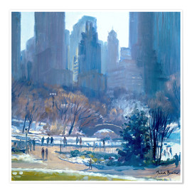 Premium poster  Winter in Central Park, New York, 1997 - Julian Barrow