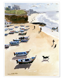 Premium poster  Boats on the Beach - Lucy Willis