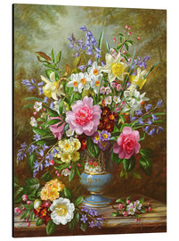 Alu-Dibond  Bluebells, daffodils, primroses and peonies - Albert Williams