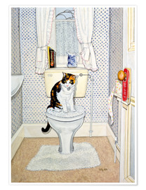 Premium poster  Cat on the Loo - Ditz