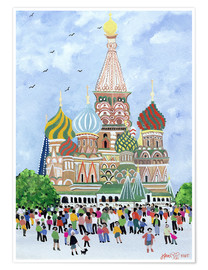 Premium poster  St. Basil's Cathedral, Red Square, 1995 - Judy Joel