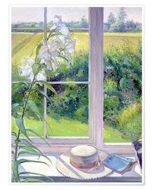 Premium poster  Reading corner in the window, detail - Timothy Easton