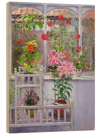 Wood print  In the winter garden - Timothy Easton