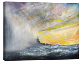 Canvas print  Yamato Emerges from Pacific Typhoon - Vincent Alexander Booth