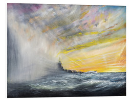 Foam board print  Yamato Emerges from Pacific Typhoon - Vincent Alexander Booth