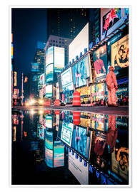 Premium poster  Broadway, Times Square by night - Sascha Kilmer