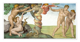 Premium poster Sistine Chapel: The Fall and the Expulsion from Paradise