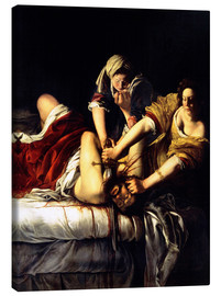 Canvas  Judith and Holofernes - Artemisia Gentileschi