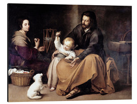 Aluminium print  The Holy Family with the Little Bird - Bartolome Esteban Murillo