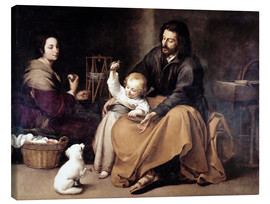 Canvas print  The Holy Family with the Little Bird - Bartolome Esteban Murillo