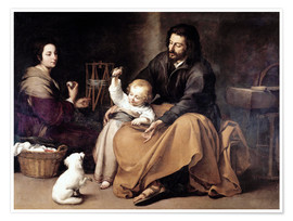 Premium poster The Holy Family with the Little Bird