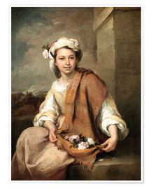 Premium poster  The Flower Girl - Bartolome Esteban Murillo