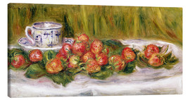 Canvas print  Still Life of Strawberries and a Tea-cup - Pierre-Auguste Renoir