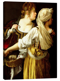Canvas  Judith and her Servant - Artemisia Gentileschi