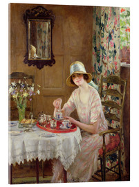 Acrylic print  Afternoon tea - William Henry Margetson