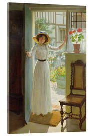 Acrylic print  At the door - William Henry Margetson