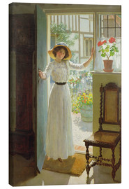 Canvas  At the door - William Henry Margetson