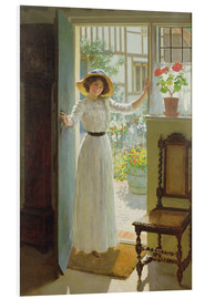 Foam board print  At the door - William Henry Margetson