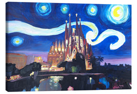 Canvas print  Starry Night in Barcelona - M. Bleichner
