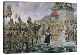 Canvas print  The arrival of Roger de Flor in Constantinople - José Moreno Carbonero