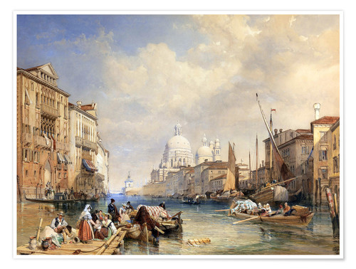 Premium poster The Grand Canal, Venice, 1835