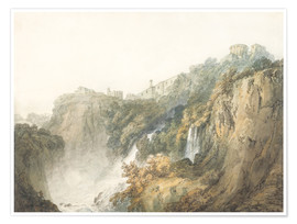 Premium poster  Tivoli with the Temple of the Sibyl and the Cascades - Joseph Mallord William Turner
