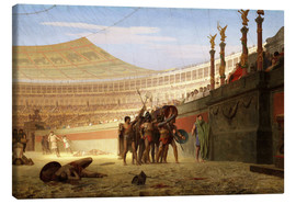 Canvas print  Hail Caesar! The doomed ones greet you, 1859 - Jean Leon Gerome
