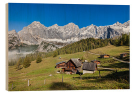 Wood print  Alm in the Alps - Gerhard Wild