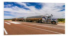 Foam board print  Road Train Australia  - Thomas Hagenau