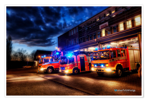 Premium poster German fire trucks