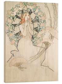 Wood print  Study for Monte-Carlo - Alfons Mucha