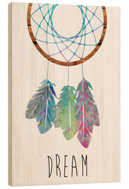 Wood print  Dreamcatcher - GreenNest