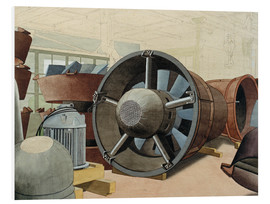 Foam board print  Turbine - Carl Grossberg